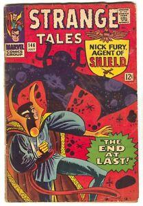 Strange-Tales-142-Marvel-1966-VG-Nick-Fury-Steve-Ditko-Jack-Kirby-Stan-Lee