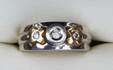 Unique Solid 18K Yellow & White Gold Diamond Wedding Band XOX Hugs & Kisses Ring