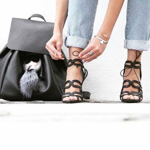 Zara Negro Tacón Alto Envolvente entrelazado Sandalias Sandalias Sandalias Ref. 2592 001 EU 40 nos 9 Reino Unido 7  minoristas en línea