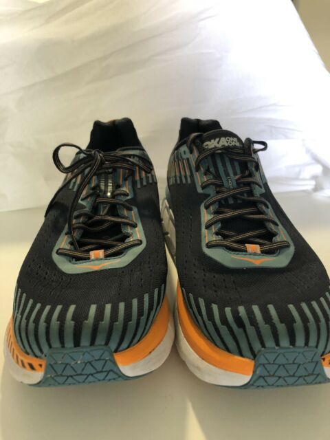 Hoka One One Clifton5 Mens Blue And Orange Size 15 Running Shoe