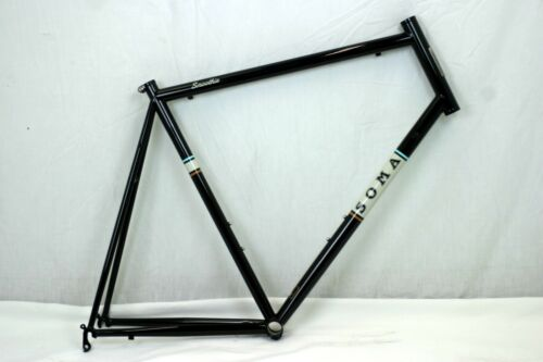 Soma Smoothie Road Frame Extra Large 66cm Black Tange Prestige Steel USA Charity