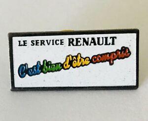 Le-Service-Renault-Car-Maker-Pin-Badge-Brooch-Vintage-C7