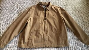 Polo-Ralph-Lauren-Mens-Coat-Jacket-Khaki-Tan-Beige-Twill-Plaid-Lined-XXL-2XL