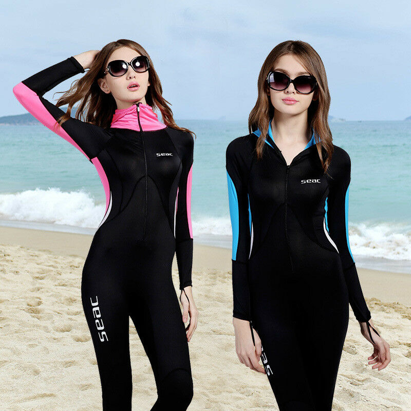Womens 0.5mm Wetsuit Full Length Surf Kayak Swim Diving with Bra Padded