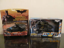 NEW BATMAN BEGINS & DARK KNIGHT FIGURE TOYS ARMORED SPEED BIKE + BATPOD mattel