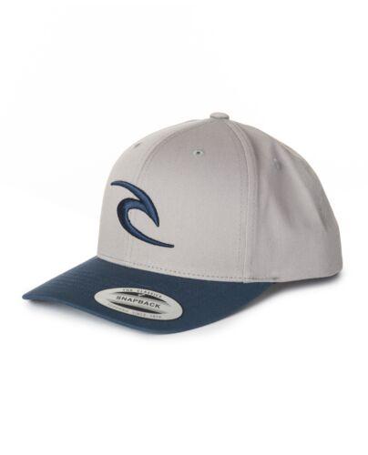 RIP CURL MENS BASEBALL CAP.ICONIC CURVED PEAK GREY//BLUE SNAPBACK HAT 8S 04 9442