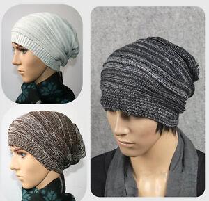Unisex-Women-Men-Adult-Knit-Beanie-Plicate-Baggy-Hat-Winter-Warm-Ski-Slouch-Cap