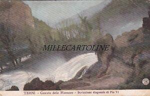 TERNI: Cascata delle Marmore - deviazione diagonale di Pio VI     1910