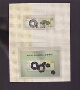 2013-Holey-Dollar-and-Dump-1813-2013-Australia-Stamps-amp-miniature-set-in-folder