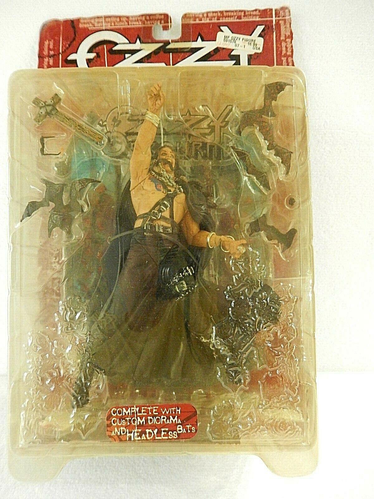 1999 McFarlane Toys Ozzy Osbourne Ultra-Action Figure w  Diorama Headless Bats