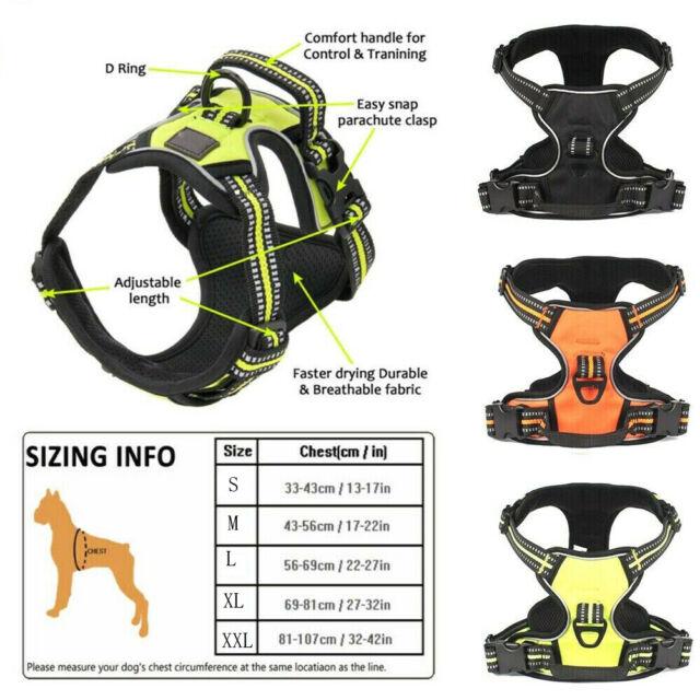 Truelove Adjustable outdoor harness 3M reflective Adventure with padded Pet Vest