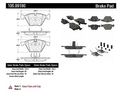 Frt Super Premium Ceramic Brake Pads  Centric Parts  105.60200
