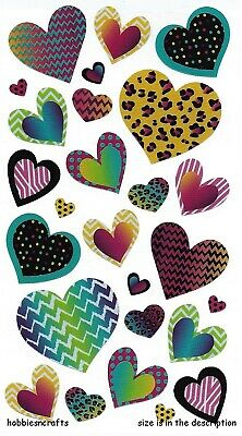 Ek Success Sticko Purple and Pink Hearts Vellum and Glitter Stickers