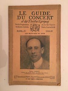 El-Guia-de-La-Concierto-Y-Las-Teatro-Letra-Albert-Jarosy-N-1-1925