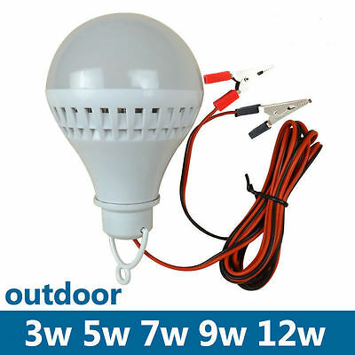E27 3/5/7/9/12W LED Bulb Lamp Home Camping Hunting Emergency Outdoor Light DC12V