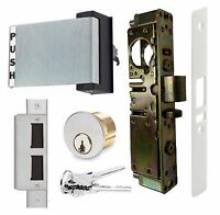 Adams Rite Type Hd Storefront Door Deadlatch W/ Paddle Handle & Lock Cylinder