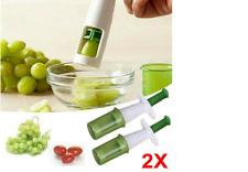 Tomato Grape Peeler Cherry Grip Slicer Cutter Chopper Kitchen Gadget Tools LA