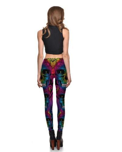 Woman Legging Multi Color Skull White Teeth Printed Legging S-4XL Legging