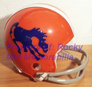 Broncos 1962 Blue Horse Throwback Custom Mini Helmet W 2