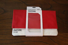 """PANTONE UNIVERSE 11"""" MAC BOOK AIR CANVAS SLEEVE """"RED"""" COVER CASE 18-1652"""
