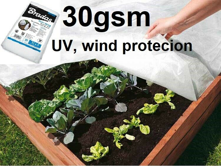 Fleece Cover Winter-SPRING Protection Garden Plant 30gsm WIND UV PROTECTION Q-TY