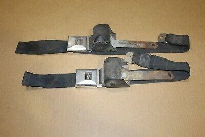 OE Style Black 1966-1967 Corvette Retractable Lap Seat Belts