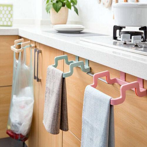 HK Kitchen Cabinet Door Basket Hanging Trash Can Waste Bin Garbage Rack Novelty