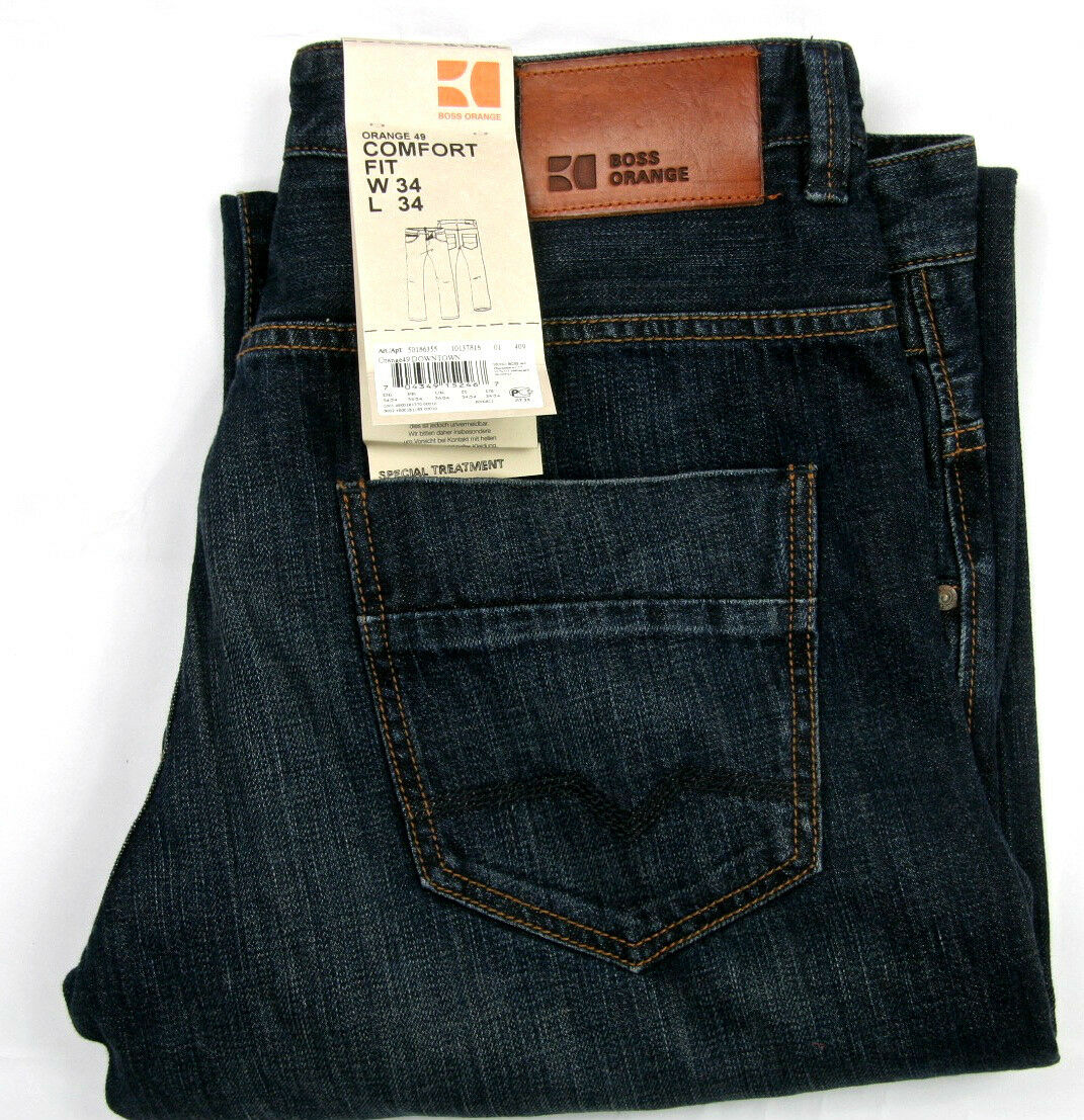 Hugo Boss Jeans orange 49 Downtown Comfort Fit Special Treatment 100% Cotton