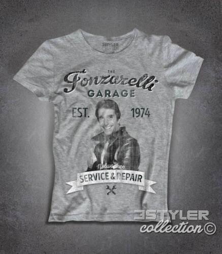 T-Shirt Fonzie Garage fonzarelli inspiriert ein glückliches days Telefilm cult