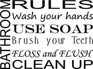 WALL-DECAL-QUOTE-VINYL-LETTERING-BATHROOM-RULES-SUBWAY-ART-WORDS