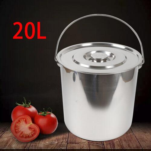 Eimer Kücheneimer Futtereimer Sektkühler Eis-Eimer Edelstahl Bucket 6//12//20L