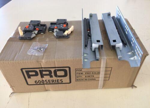 9 PRO600 Undermount Soft Close Drawer Slides W// Locking Device LOT of 6