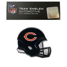 New NFL Chicago Bears Color Aluminum Helmet 3-D Auto Emblem Sticker Decal