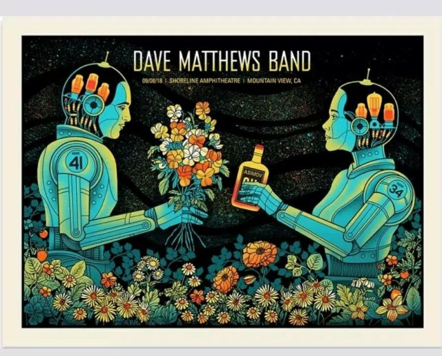 Dave Matthews Band Shoreline Poster Mountain View CA DMB 6/8/18 SOLDOUT Sperry