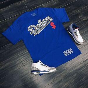 Shirt To Match Nike Air Jordan Retro 3 True Blue Sneakers