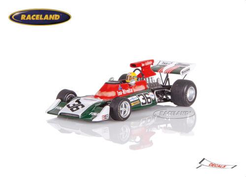 Spark 1:43 ISO FX3B Cosworth V8 F1 ISO Rivolta GP Argentina 1973 Nanni Galli