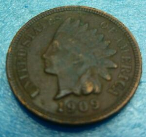 1909-Indian-Head-Penny-Cent-Coin-Z09-Better-Grade