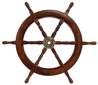 Schiffssteuerrad 76cm Schiffsrad Steuerrad Schiff Schiffe Boot Holz Antik-Stil