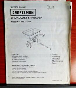Sears-Craftsman-Broadcast-Spreader-Model-no-486-243222-Owners-Manual