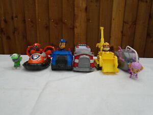 Paw-Patrol-Vehicle-Bundle-Marshall-Rubble-Rocky-Chase-Skye-Zuma-figures-Pups