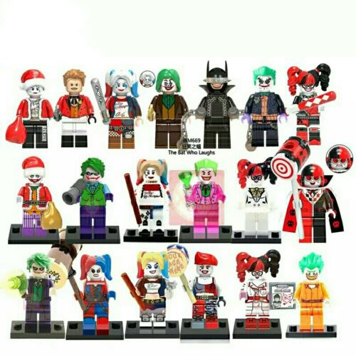 10pcs Random Joker  Harley Quinn Lego Characters Moc Minifigure Toys Gift Kids
