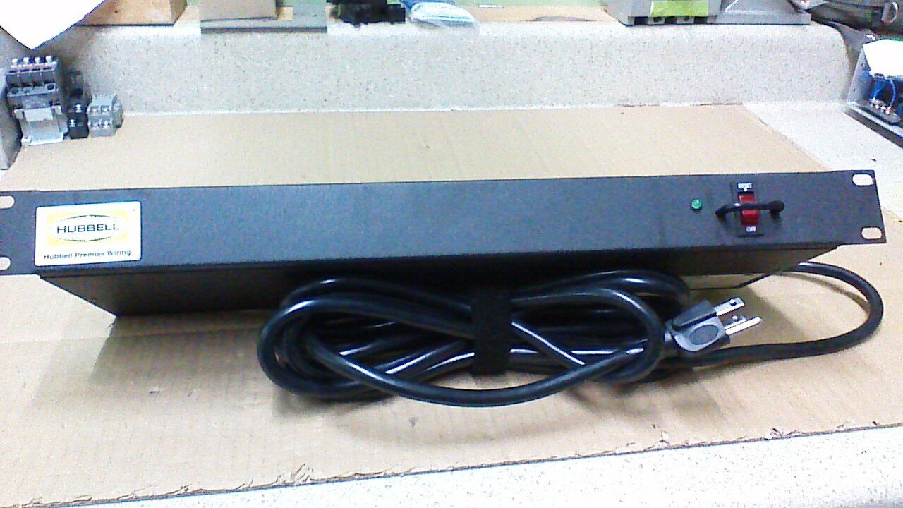 Surge Protected Power Strip Hubbell Premise Wiring MCCPSS19 | eBay