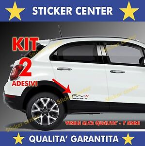 KIT-2-ADESIVI-SPORTELLO-PORTA-DOOR-FIANCATA-FIAT-500X-500-X-BICOLORE-STICKER