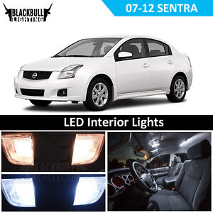 White Led Interior Light Replacement Kit For 2007 2012 Nissan Sentra