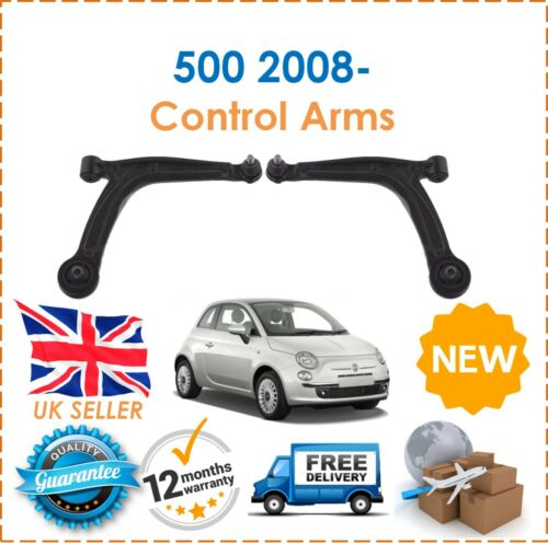 For Fiat 500 1.4 Abarth 2008 Front Right /& Left Lower Suspension Wishbone Arms