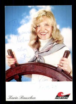 Karin Rauschen Autogrammkarte Original Signiert ## Bc 147123 Ein Kunststoffkoffer Ist FüR Die Sichere Lagerung Kompartimentiert Musik