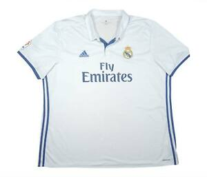 REAL MADRID 2016-17 Authentic Home Shirt (eccellente) XXXL Soccer Jersey
