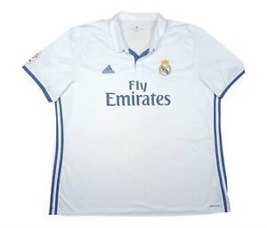 REAL MADRID 2016-17 Authentic Home Shirt (eccellente) XXXL Soccer Jersey