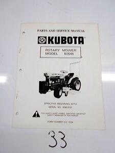 kubota operators manual rotary mower model b3048 ebay rh ebay com B7610 Mower Mid-Mount B3200 Kubota Mower Deck Installation