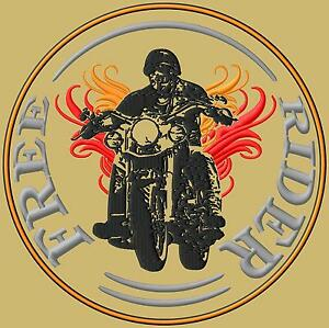 Free-Rider-Biker-XL-embroidered-iron-on-patch